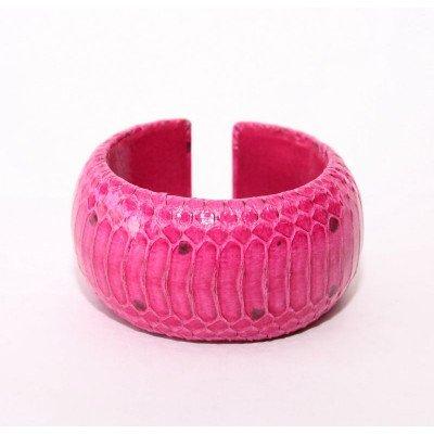 Браслет из кожи питона WSBR 40 Pink