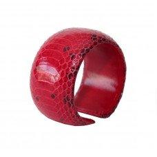 Браслет з шкіри пітона WSBR 40 Red