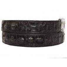 Ремінь чоловічий зі шкіри крокодила чорний 105 ALB-B Black