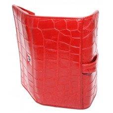 Гаманець жіночий зі шкіри крокодила червоний ALW 09 Red