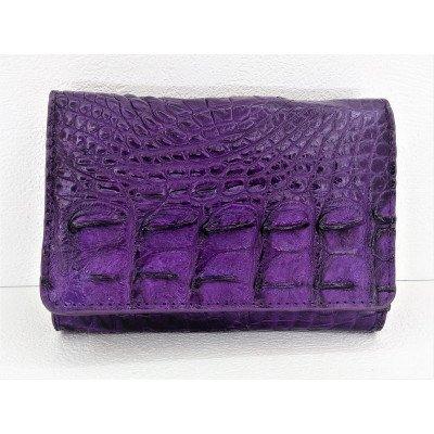 Гаманець жіночий зі шкіри крокодила фіолетовий PCM 63 BS Violet , фото
