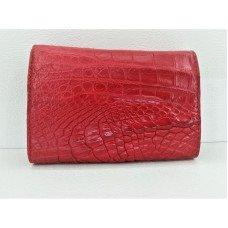 Кошелек женский из кожи крокодила красный PCM 63  L Fire Red