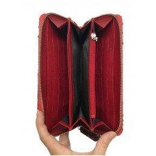 Гаманець жіночий зі шкіри пітона червоний PT 11 Belly Red