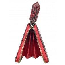 Кошелек женский из кожи питона красный PT 11 Belly Red