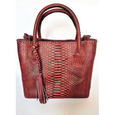 Сумка женская из кожи питона красная PTBI 003/28 Premium , фото