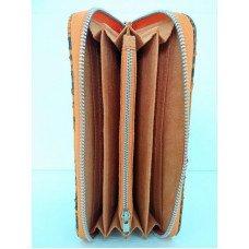 Гаманець жіночий зі шкіри пітона помаранчевий PTWI 11/32 Orange