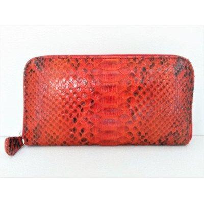 Гаманець жіночий зі шкіри пітона червоний PTWI 11/7 Red , фото
