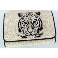 Кошелек женский из кожи ската ST 63 ART Tiger