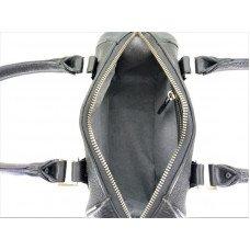 Сумка жіноча зі шкіри ската чорна STB 012 Black