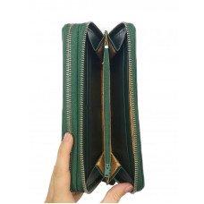 Гаманець жіночий зі шкіри крокодила зелений ZAM 15 B Green