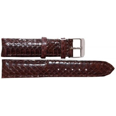 Ремешок для часов из кожи морской змеи коричневый SNWS 01 Brown