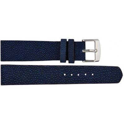Ремешок для часов из кожи ската синий STWS 01 Dark Blue