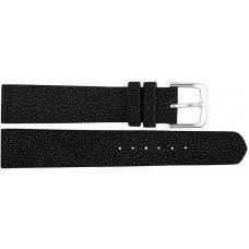 Ремінець для годинника зі шкіри ската чорний STWS 01 Black