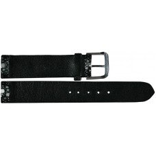 Ремінець для годинника зі шкіри ската чорний STWS 03 Black