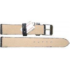 Ремінець для годинника зі шкіри ската чорний STWS 04 SA Black