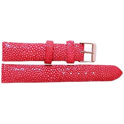Ремешок для часов из кожи ската красный STWS 04 SA Red , фото